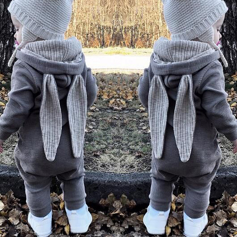 Christmas gift party cosplay costume for baby newborn big ears rabbit jumpsuit hat zipper rompers Christmas costume