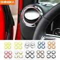 SHINEKA ABS Auto Innen Klimaanlage Outlet Vent Dekoration Abdeckung Trim Ring Aufkleber Für Jeep Wrangler 2011-2016 Auto styling