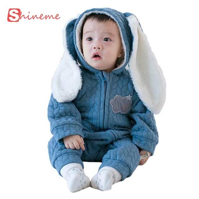 Terno do inverno da menina do menino collant conjunto macacão de manga longa infantil roupas de Algodão macacão romper traje animal engraçado pano