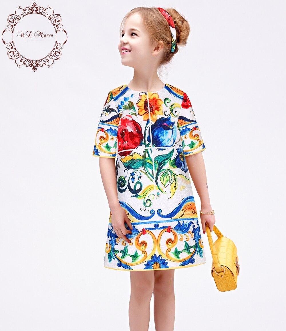 Baby Girl Dress 2016 Spring Brand Princess Dress Girl Robe Princess Costume Printable
