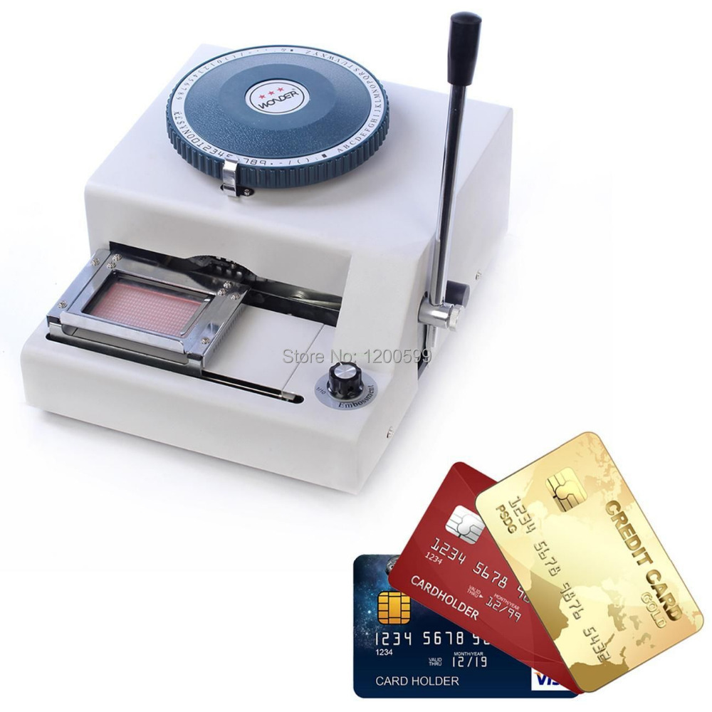 68 Characters PVC Card Embosser + 220V/110V 300W Hot Foil Stamping ...