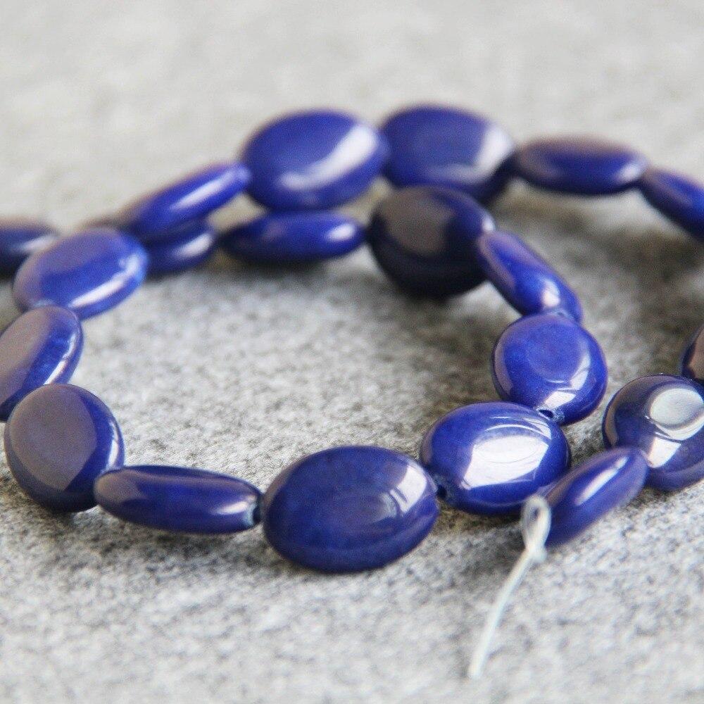 727278b9210c Nouveau Pour Le Collier et le Bracelet 13 18mm Bleu Cyan Lapis Lazuli  Perles Pierre Lâche Perles Femelle Accessoire Pièces 15 pouces Fabrication  de Bijoux