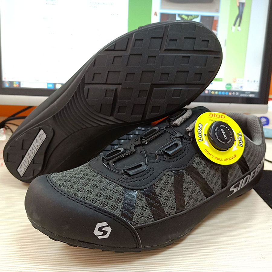 SIDEBIKE road cycling shoes men racing road bike shoes self locking atop bicycle speakers athletic ultralight