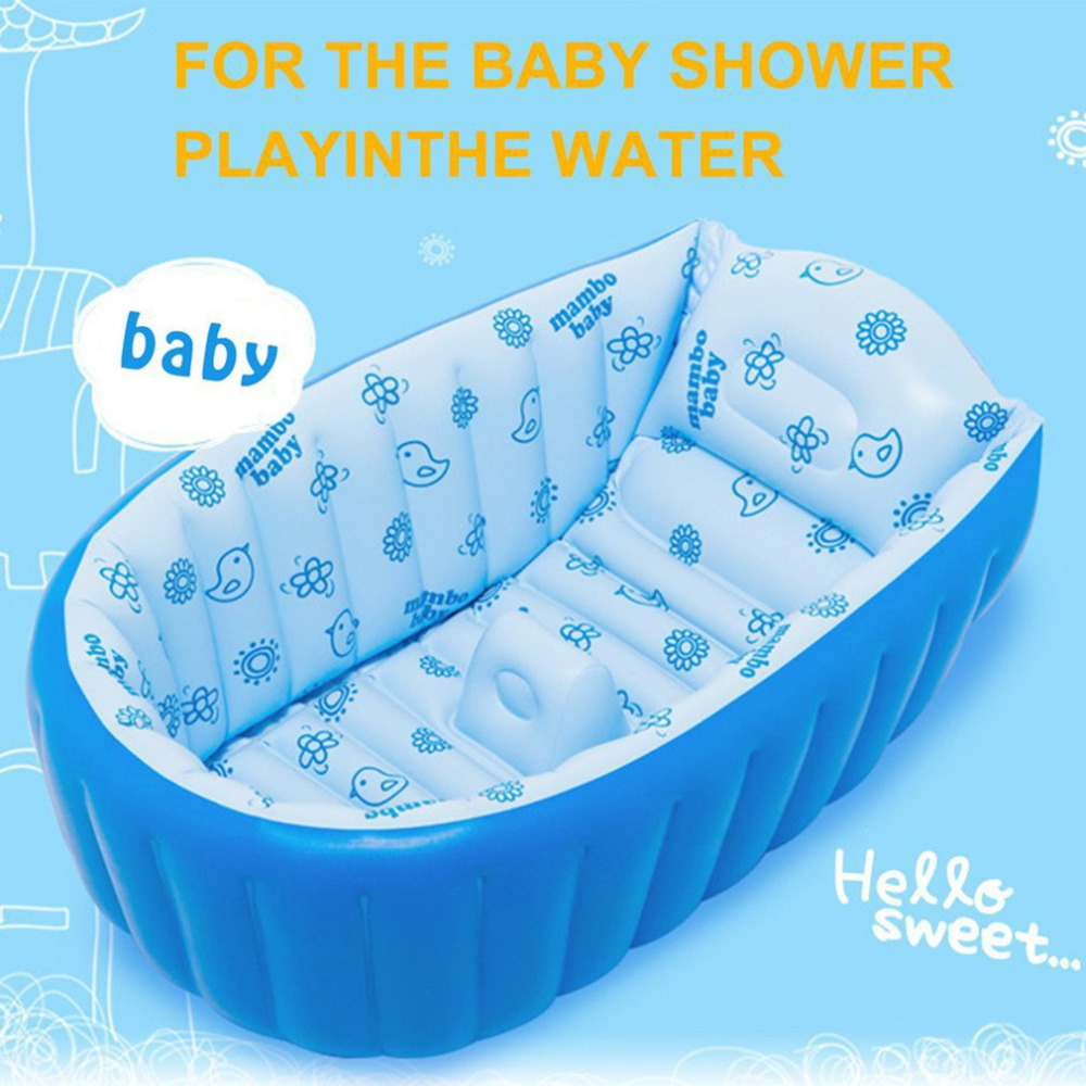 Mambobaby Baby Bath Kids Bathtub Portable Inflatable Cartoon Safety ...