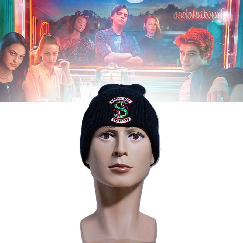 Riverdale Cosplay Hats Beanie Cap Winter Knitted Embroidery Hat Archie Betty Veronica Women Men Adult