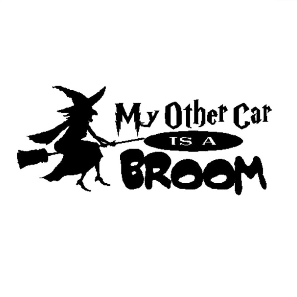 15 2cm 6 5cm Witch My Other Car Is A Broom Car Truck Auto