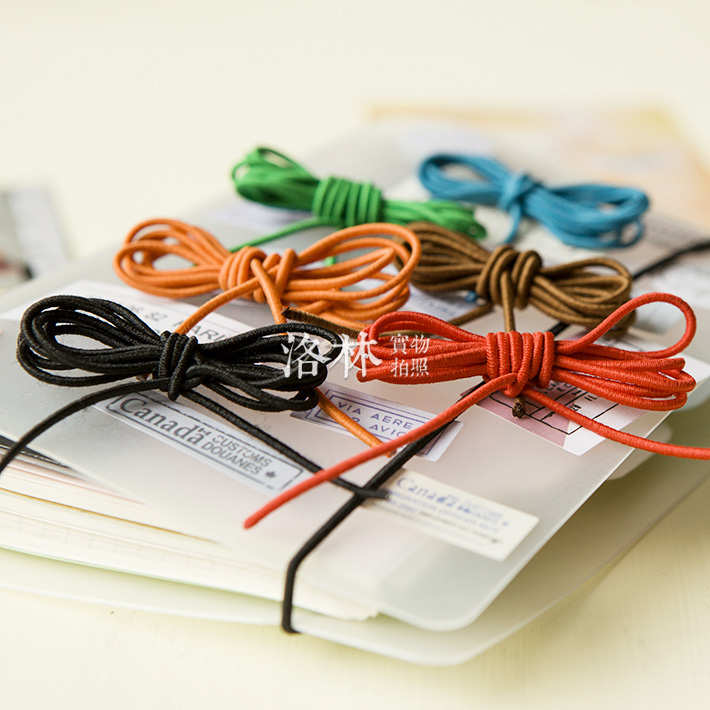 Add More Filler Papers Rope For Travellers'notebook Strand Elastic Cord Diy Accessories 0.8m Long Rope Accessories Planner