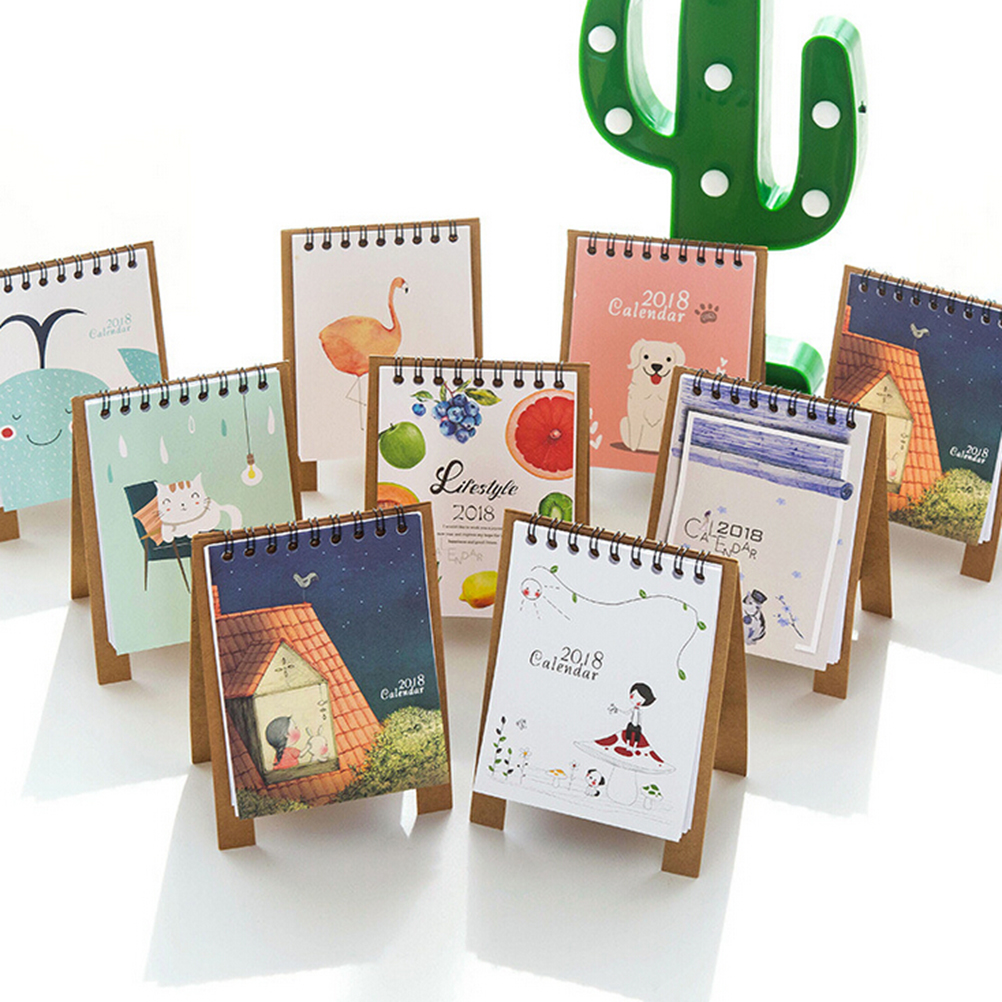 Peerless New Desk Standing Paper Calendar Multifunction Schedule Planner Notebook Kawaii Cartoon Animal Calendar Wide Selection; Calendar Calendars, Planners & Cards