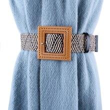 HATCYGGO Womens Belt Vintage  Waist Belts Female Woven Wide/Black For Women Fashion Waistband Summer Braided Dress