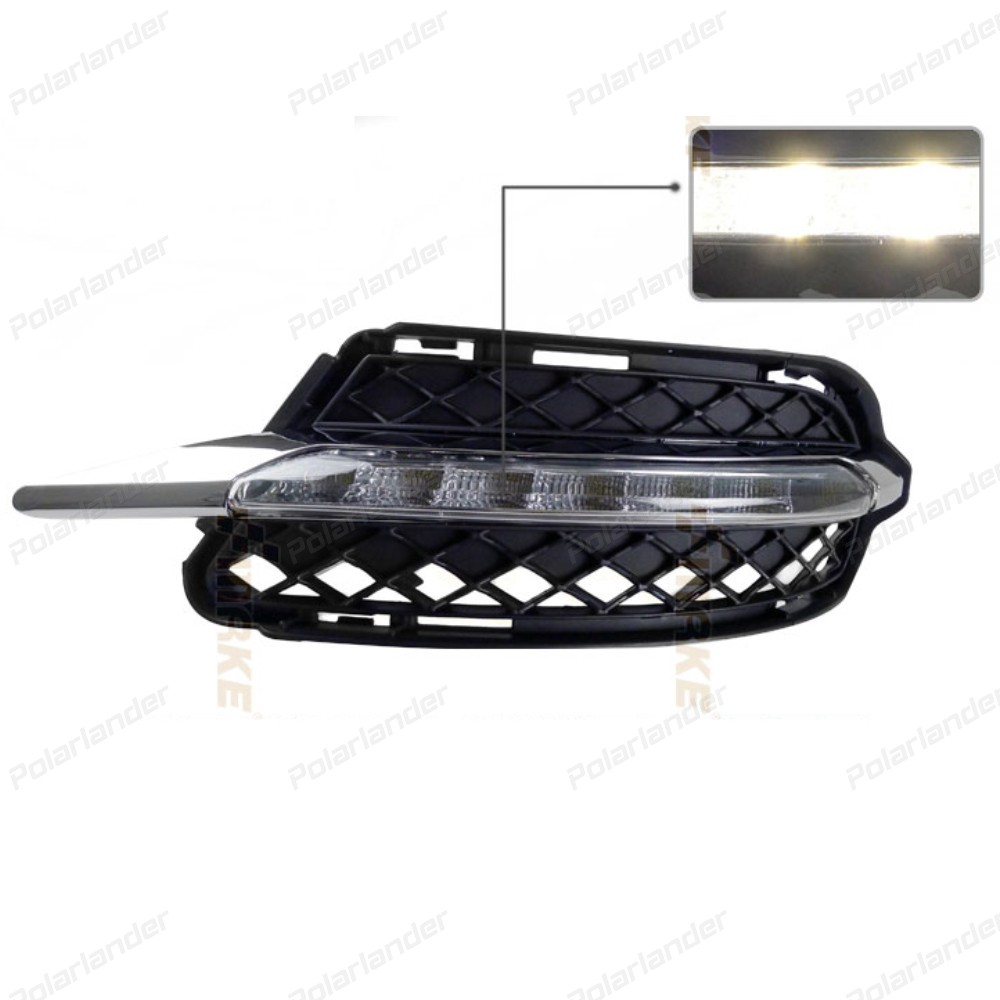 car styling For M/ercedes B/enz S-Class S300 S500 S350 S600 LED DRL Daytime Running Light Daylight Waterproof Fog Head Lamp