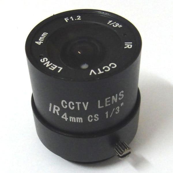 1/3 F1.2 CCTV Fixed Iris IR Infrared 4mm Lens CS Mount lense For CCD Camera 8mm 12mm 16mm cctv ir cs metal lens for cctv video cameras support cs mount 1 3 format f1 2 fixed iris manual focus