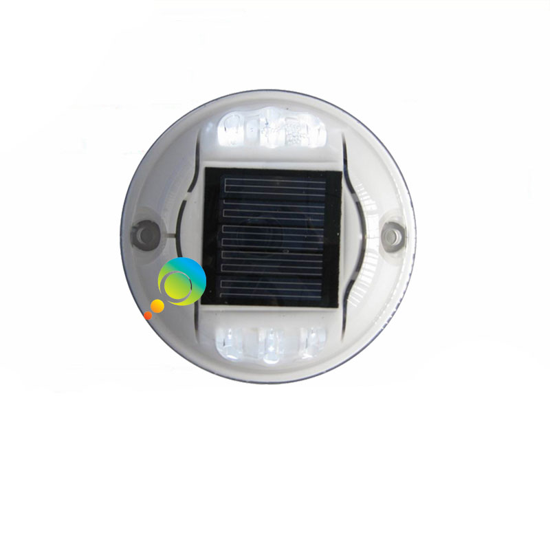 Steady Mode White LED Road Stud Plastic Housing Solar Power Road Stud Light For Sale