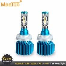 Фары автомобиля H4 H7 светодиодный лампы H1 H11 HB4 HB3 9005 9006 9012 12 В 80 Вт 6000 К 12000LM УДАРА авто лампы заменить фары Противотуманные фары