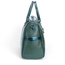 New Arrival 2018 ESUFEIR Brand Genuine Leather Women Handbag Embossed Soft Leather Shoulder Bag Vintage Solid Zipper Women Bag
