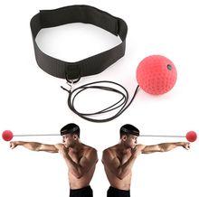 1set  Boxing Training Ball Speed Power Practice Boxing Reflex Ball Training Hand Eye Coordination With Headband цена 2017