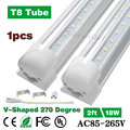 18W 2ft V Shaped Integrated T8 LED Tubes SMD 2835 600mm 96led Light Lamp Bulb 2feet 0.6m AC85-265V Led Lighting 1Pcs