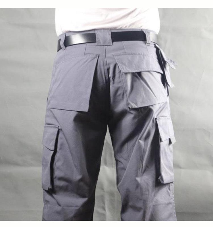 Working pants men multi pockets work cargo pants large size loose style men\'s labor trousers wear-resistance welding repairman (11)