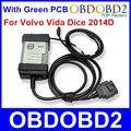 Многофункциональный Диагностический Инструмент Для Volvo Vida Dice Pro Последним 2014D С многоязычная Полный Чип Зеленый PCB для Volvo Dice Vida