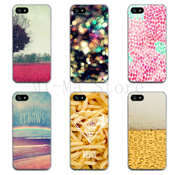 New Arrival Color TPU Dirt-resistant Thin Back Cover Cases For Iphone 5 5S 5G Fashion Cell Phone Cases