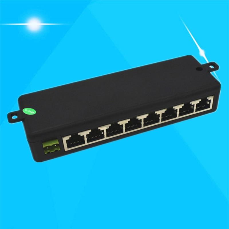 8 Ports POE Injector Splitter For CCTV Networks Camera Power Over Ethernet GDeals