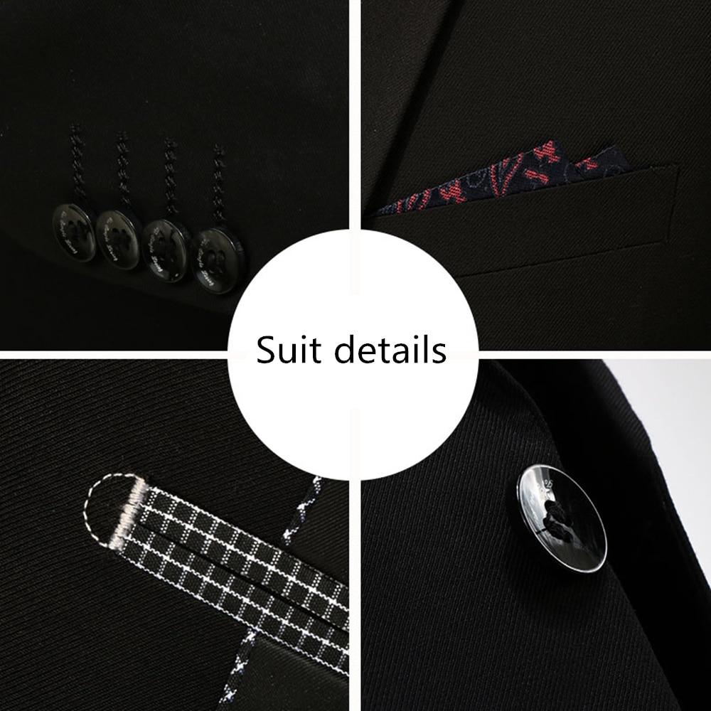 2018 Grey Black Blue Men Suit Slim Fit 3 Pieces Groom Tuxedo Formal Party Blazer Wedding Groom Suits Blazer Pants Vest S 5XL in Suits from Men 39 s Clothing
