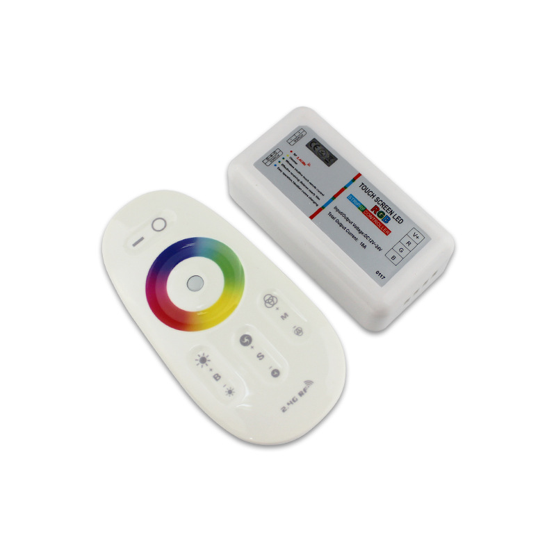 Touch Screen LED RGBW Controller 2.4G Wireless DC12-24V Touch RF Remote Control For RGBW LED Strip