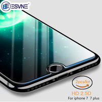 ESVNE (2 pcs/lot) 0.26mm 2.5D Protective Glass For iPhone 7 glass iPhone 7 Plus Screen Protector On Tempered Glass Film