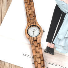 BOBO BIRD 31mm Zebra Wood Watch for Women with Wooden Band Female Watches Ladies Quartz Watch relogio feminino C-O29