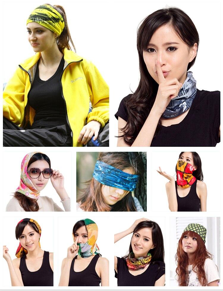 10 шт. новые женские красивые трендовые дизайны УФ Защита микрофибра наружная бандана многофункциональная трубка повязки на голову