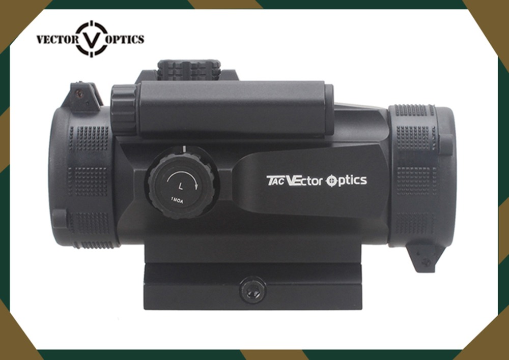 ФОТО Vector Optics Hunting Scopes Tactical 1x30 Red Dot in Riflescopes Reflex Sight Auto Light Sense 110mm 4.3 Inch Weapon Sight