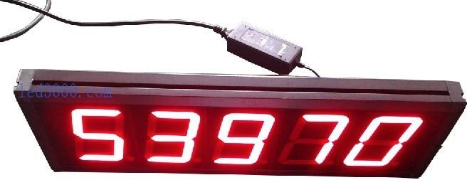 gran tamaño 99999 segundos cuenta atrás y cuenta atrás reloj led - Decoración del hogar
