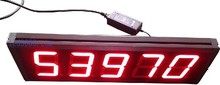 large size 99999 seconds countdown and count-up led clock red color free shipping