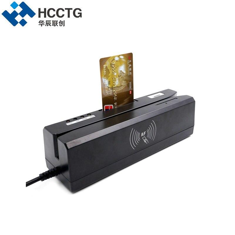 Lecteur de carte à puce magnétique et Support d'écriture IC & NFC & Mifare & MSR & RFID & carte Psam lire tout en un machine pour système bancaire HCC80 - 6