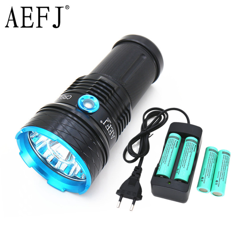25000 lumens light King 12T6 LED flash light 12*XM-L T6 LED Flashlight Torch Lamp Light For Hunting Camping ...