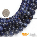 "Round Sodalite Stone Beads,Selectable Size 3mm To 14mm,Natural Stone Beads For Women Bracelet Making Strand 15"" Free Shipping"