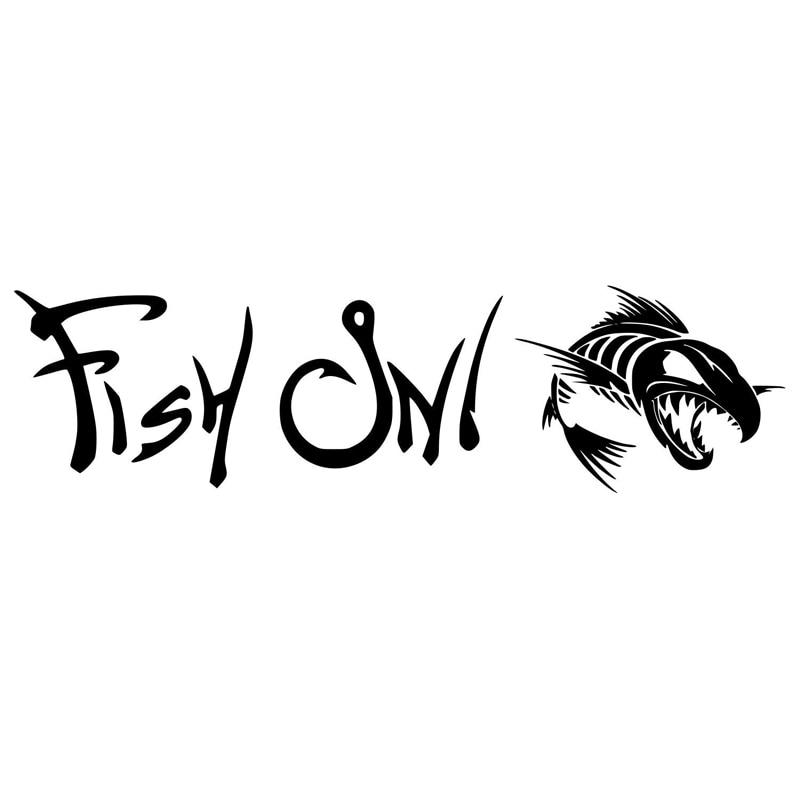 17см*4.6 см рыбы на рыбалке мода стайлинга автомобилей наклейка автомобиль Декор Виниловые наклейки С4-0201