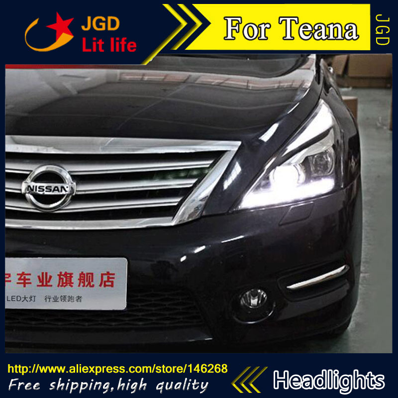 Auto Part Style LED Head Lamp for Nissan Teana 2008-2012 led headlights drl hid Bi-Xenon Lens low beam auto clud style led head lamp for benz w163 ml320 ml280 ml350 ml430 led headlights signal led drl hid bi xenon lens low beam