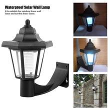 Lámpara de pared LED de luz Solar a prueba de agua Vintage para exteriores, jardín, paisaje, farol hexagonal, Villa/Parque/Patio foco LED