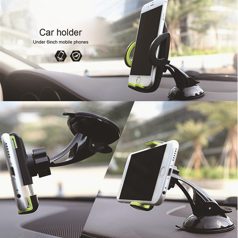 For IPhone Samsung Xiaomi Universal Car Holder Suction Cup Sticky Car Glass Windshield Mount Stand Phone