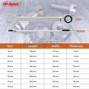 Image 4 - Hi Spec 8pc Ratchet Combination Wrench Set 8 10 12 13 14 15 17 19mm Torque Spanner Set A Set Of Keys Torquimetro Chave catraca