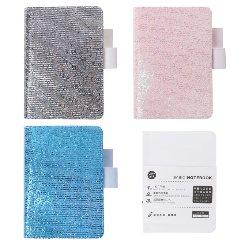 80 Sheets A6 Sequins Notebook Diary Weekly Planner Journal Agenda Organizer Travelers Faux Leather Cover Book School Supplies80 Sheets A6 Sequins Notebook Diary Weekly Planner Journal Agenda Organizer Travelers Faux Leather Cover Book School Supplies