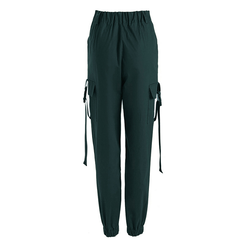 ADISPUTENT Streetwear Cargo Pants Women Casual Joggers Black High Waist Loose Female Trousers Korean Style Ladies Pants Capri 20