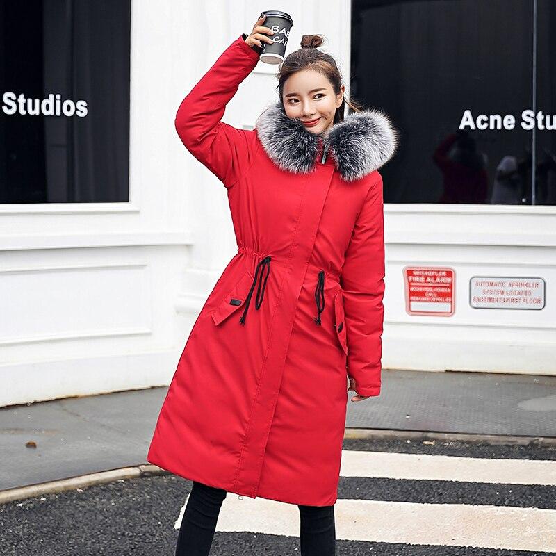 2018 Mode Épais Noir rouge À Des Manteau army Bas Hiver Chaud bleu D'hiver Parka Vers Green Automne De Sweat Veste Mince Capuche Nouveau Le Femmes Fz0RxwwqE