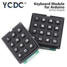 4x4/3x4 Matrix Module 12-16 Keys Pad Keyboard Board Program Signal Control Keypad Keyboard PIC AVR Stamp Plastic Keys Switch