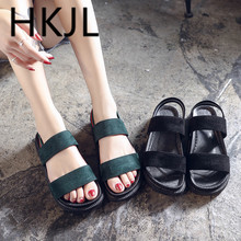 HKJL fashion women High-heeled womens sandals spring 2019 new wave dot mesh cloth baotou half with a A282