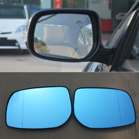 For Toyota Corolla HG Car Rearview Mirror Wide Angle Hyperbola Blue Mirror Arrow LED Turning Signal Lights