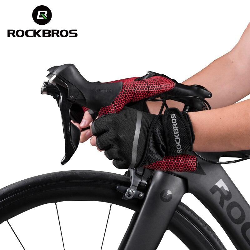 Road Mountain Bike Vélo Cyclisme Plein doigt Gants rembourrés MTB BMX écran Tactile