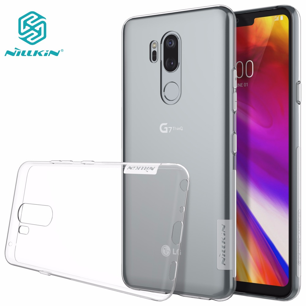 Case for LG G7 ThinQ G6 NILLKIN Ultra Thin Transparent Nature TPU Transparent Clear Soft Back cover case with Retail package(China)