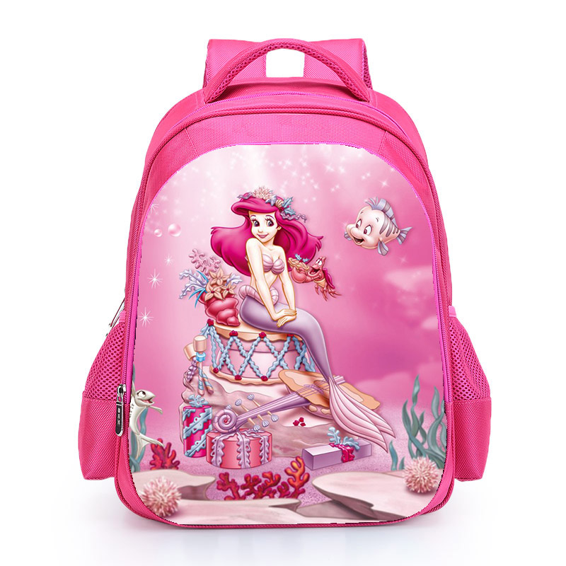 The Little Mermard Ariel Backpack 2018 Pink Princess Kids School Bag Fairy Tale Schoolbag Book Bags for Teen Girls mochila Bolsa (4)