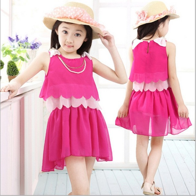 dedbca299bb Free shipping New Children dress Baby Girls Clothes lovely wholesale summer  baby girl chiffon dress